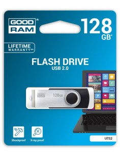 USB 20 GOODRAM 128GB UTS2 NEGRO