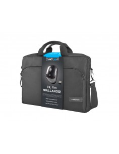 MALETIN PORTATIL NATEC WALLAROO 156RATON WIRELESS NEGRO