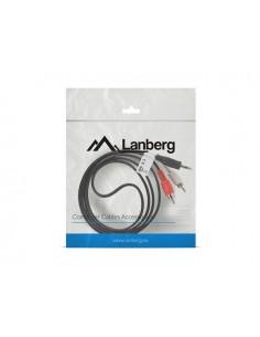 CABLE ESTEREO LANBERG JACK 35MM 2X RCA MACHO 15M