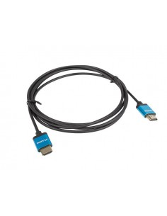 CABLE HDMI LANBERG MACHO MACHO V20 4K SLIM 1M NEGRO