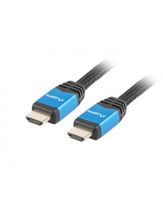 CABLE HDMI LANBERG MACHO MACHO V20 CU 4K PREMIUM 1M NEGRO