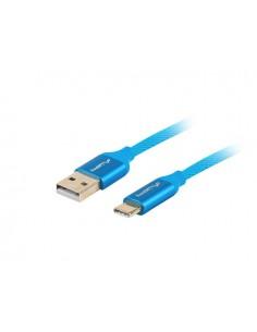 CABLE USB LANBERG 20 MACHO USB C MACHO QUICK CHARGE 30 1M AZUL