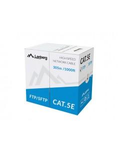 BOBINA CAT5E LANBERG FTP RJ45 SOLIDO COBRE FLUKE TESTED AWG24 305M GRIS