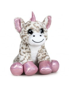 Peluche Unicornio Ojos Luz soft 28cm