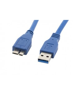 CABLE USB 30 LANBERG MACHO MICRO USB MACHO 18M AZUL