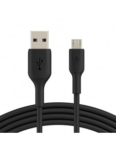 CABLE USB BELKIN BOOSTCHARGE microUSB MACHO A USB A MACHO 1M