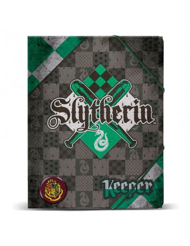 Carpeta A4Harry Potter Quidditch Slytherin gomas