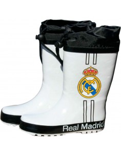 Botas agua blancas cierre ajustable Real Madrid