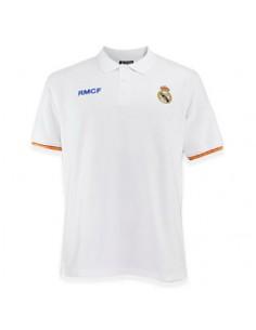 Polo Real Madrid blanco junior