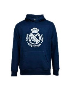 Sudadera Real Madrid capucha marino junior