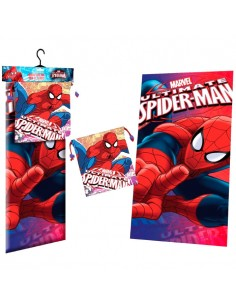 Toalla microfibra saco merienda Spiderman Marvel Face