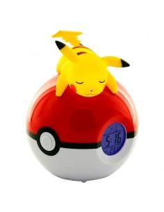 Lampara despertador Led Pikachu Pokeball Pokemon