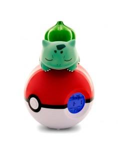 Lampara despertador Led Bulbasaur Pokeball Pokemon