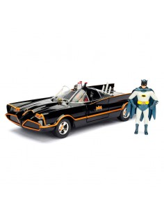 Set figura coche metal Batmovil 1966 Classic TV Batman DC Comics