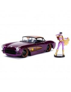 Set figura coche metal Chevy Corvette 1957 Batgirl DC Comics
