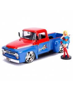 Set figura coche metal Ford F 100 Pickup 1956 Supergirl DC Comics