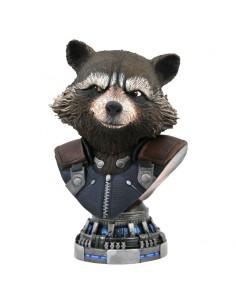 Busto resina Rocket Raccoon Vengadores Avengers Endgame Marvel 20cm