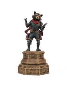 Estatua diorama Rocket Raccoon Vengadores Endgame Marvel 18cm