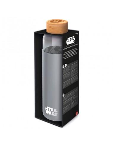 Botella cristal Star Wars funda silicona 585ml