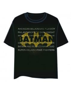 Camiseta Letras Batman DC Comics adulto