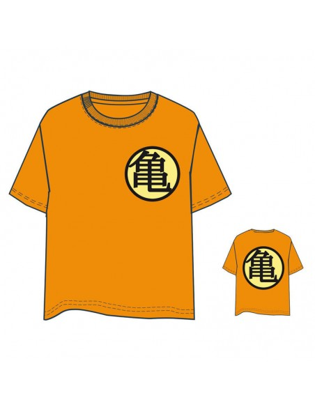 Camiseta Dragon Ball naranja adulto