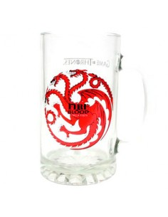 Jarra cristal Fire and Blood Targaryen Juego de Tronos