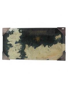 Poster vidrio Mapa Poniente Juego de Tronos