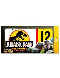 Replica matricula Dennis Nedry Jurassic Park