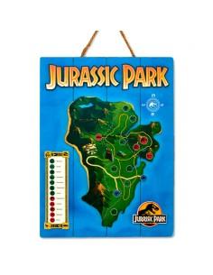 Cartel madera Woodart 3D Print Isla Nublar Jurassic Park