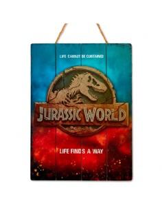 Cartel madera Woodart 3D Print Jurassic World