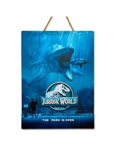 Cartel madera Woodart 3D Print Mossasaurus Jurassic World