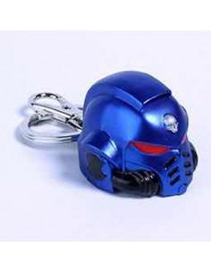 Llavero metal Space Marine Primaris Helmet Ultramarine Warhammer 40K