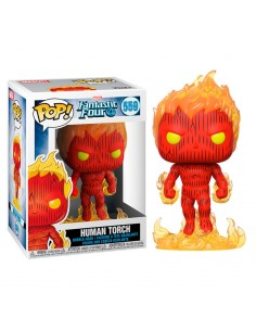 Figura POP Marvel Los 4 Fantasticos Human Torch