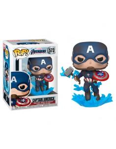 Figura POP Marvel Vengadores Endgame Capitan America with Broken Shield Mjolnir