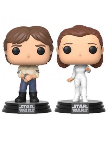 Set 2 figuras POP Star Wars Han Leia