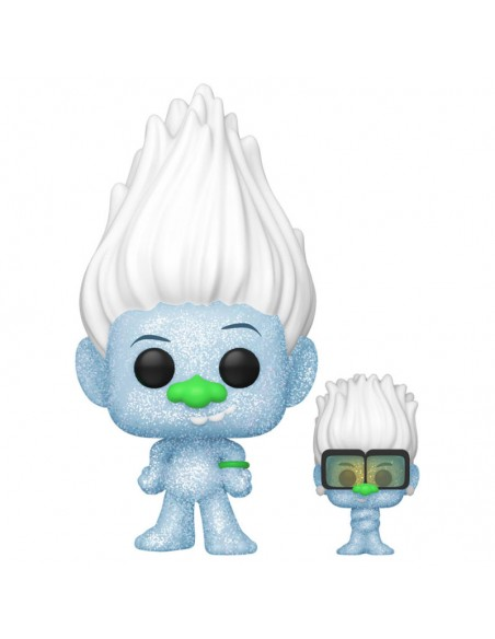 Figura POP Trolls World Tour Hip Hop Guy Diamond DGLT with Tiny Glitter