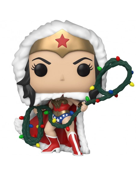 Figura POP DC Holiday Wonder Woman with Lights Lasso
