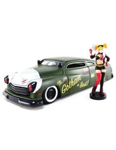Set figura coche metal Mercury 1951 Harley Quinn DC Comics