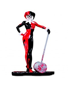 Estatua Harley Quinn Red Black 38 White DC Comics 18cm