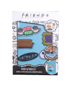 Cuaderno parches velcro Friends