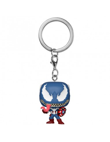 Llavero Pocket POP Marvel Venom Captain America
