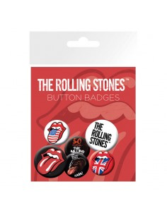 Set chapas Lips The Rolling Stones