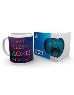 Taza Eat Sleep Repeat Playstation