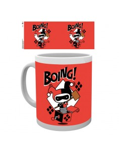 Taza Justice League Harley Quinn Boing Chibi DC
