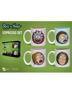 Set taza espresso Rick and Morty