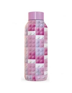 Botella Solid Pink Bricks Quokka 510ml