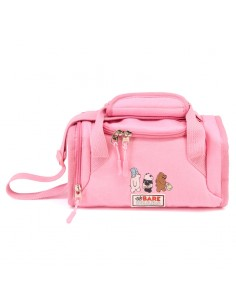 Bolsa portameriendas We Bare Bears rosa
