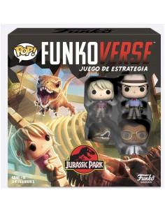 Juego mesa POP Funkoverse Jurassic Park 4fig Espanol