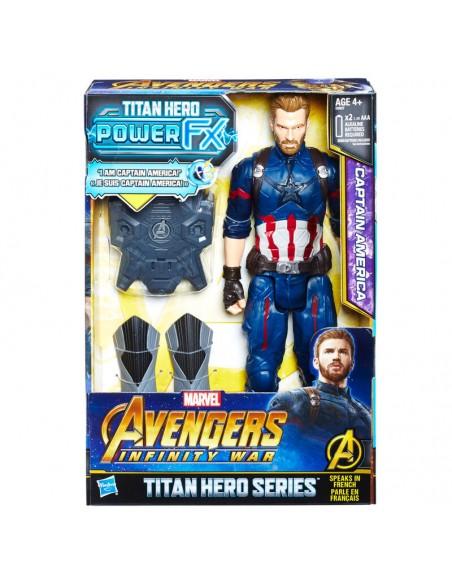 Figura Titan Hero Power FX Capitan America Vengadores Marvel 30cm