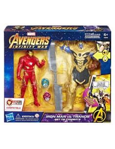 Set figuras Iron Man vs Thanos Vengadores Avengers Marvel